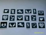 1 - 100  x  Hen Night / Bachelorette party themed Stencils for glitter tattoos / airbrush (1)